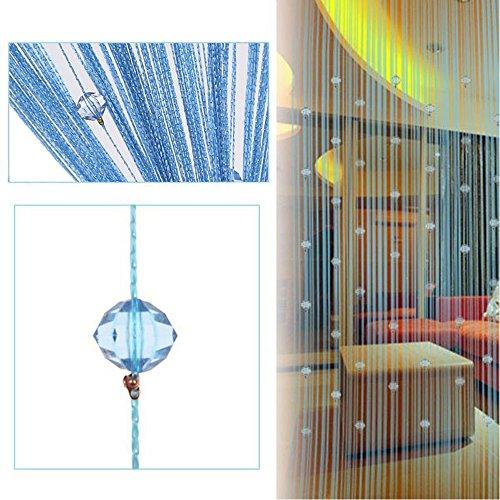 Beauty Strang Quaste Crystal Perlen Vorhang Tür Fenster Panel Raumteiler Dekoration TJB blau
