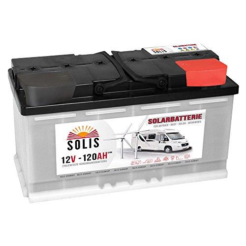 Solarbatterie Batterie 12V 120AH Wohnmobilbatterie Boot Marine Wohnmobil Versorgung Verbraucher statt 100Ah