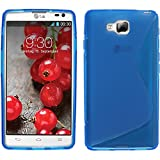 Funda de silicona para LG Optimus L9 II - S-Style azul - Cover PhoneNatic Cubierta + protector de...