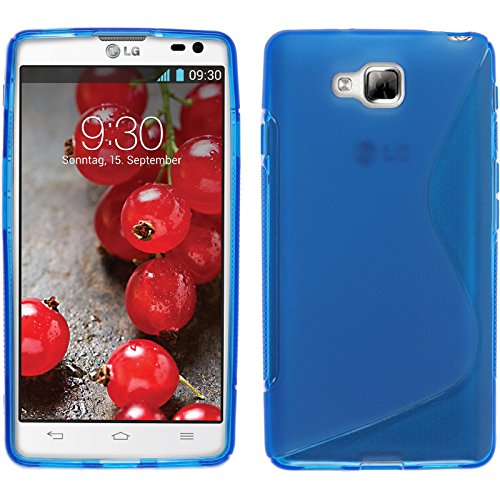 PhoneNatic Custodia per LG Optimus L9 II Cover blu S-Style Optimus L9 II in silicone + pellicola protettiva