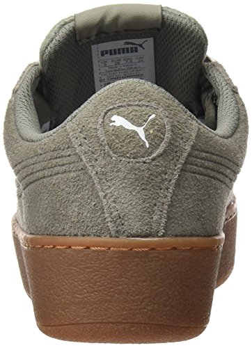 Puma Vikky Platform Ribbon Bold, Baskets Basses Pour Femme Grey (rock Ridge-rock Ridge)