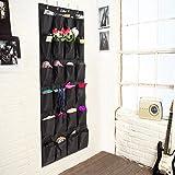 colleer-Pratique-ordre-Systmes--la-porte-avec-24-pochestagre-hngeorganizer-porte-armoires--chaussures-Rangement-suspendu-multifonctions-sac-de-rangement-Schwarz