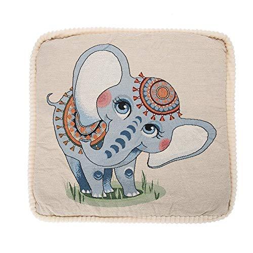 Wandisy Cojines de Asiento Asientos eléctricos de calefacción de Invierno(Elefante de Lino)
