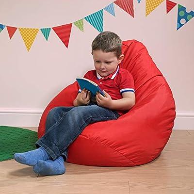 Bean Bag Bazaar Kids Gaming Chair - Large, 80cm x 70cm - Childrens Indoor Outdoor BeanBag (Red, 2)