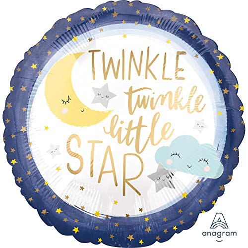 Amscan 3850601 Folienballon Twinkle Little Star, Mehrfarbig