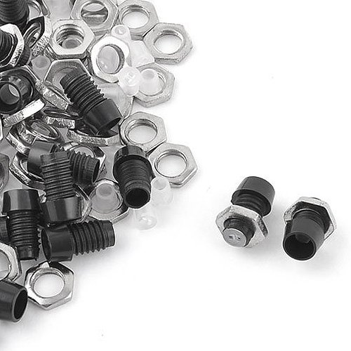 SODIAL(R) Metal Nut LED Mounting Holder Panel w 3mm 50 Pieces Black