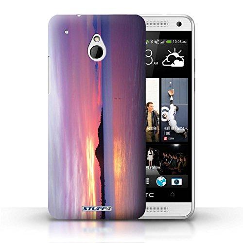Kobalt® Imprimé Etui / Coque pour HTC One/1 Mini / bateaux conception / Série Coucher du Soleil Bleu de la mer