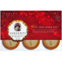 Sargents Deep Mince Pies 6 Pack - Weihnachts-, Advents-Törtchen