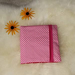CD Etui für 24 CD´s CD Wallet CD Hülle handmade Sterne rosa