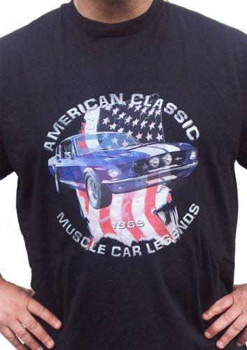 1968 Stang GT500 muscle car T-Shirt Mustang Eleanore Schwarz