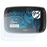 Bruni Schutzfolie für Tomtom Rider 450 Folie - 2 x glasklare Displayschutzfolie