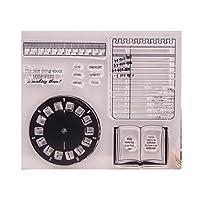 guanjunLI Clock Sheet of Clear Stamps -DIY Scrapbooking, Planner, Card Making, journaling