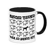 Tasse BLACK SHEEP - BORDER TERRIER - Hunde Fun Schaf Kaffeebecher Siviwonder