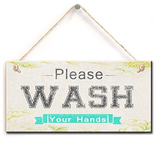Einzigartige Warnzeichen - bitte waschen Sie Ihre Hände nach Hause Zubehör Geschenk Zeichen Plaque (5