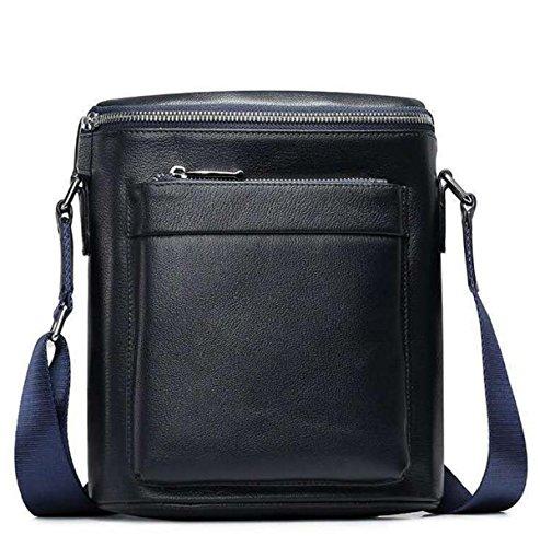 Business Casual Wichtige Composite-Ledertasche Quadratische Tasche Für Männer Schwarz Blue