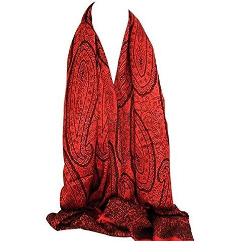Impresión de Paisley completa reversible magnífica de dos caras Impresión de Pashmina de la sensación del abrigo de la bufanda del mantón del mantón de Hijab