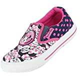 Minnie Mouse Marina Canvas Girls Trainers - Navy/Pink (6,7,8,9,10,11,12)