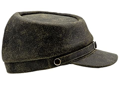 Sterkowski Genuine Leather Men's Secession Kepi Civil War Cap UK
