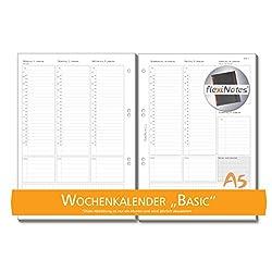 Schaar-design Flexinotes® Wochenkalender 2018, Einlagen Für Notizbücher, Organizer, Terminplaner, Ringbücher, Timer, Jahresplaner, Zeitplaner, Typ: Basic, Größe:a5