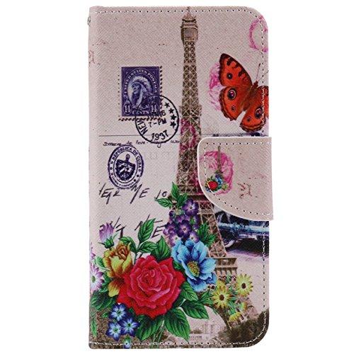 WYSTORE apple iphone 7 Coque,Flip Style Ultra Slim PU Cuir Couverture Wallet Case Avec SupportFonction Coque Magnetic Closure PU Étui Portefeuille -W23 Q08
