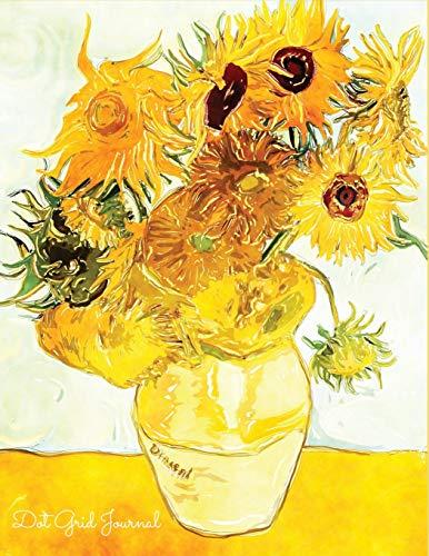 Dot Grid Journal: Watercolour Sunflower Dot Grid