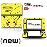 [new 3DS XL] Pokemon Pikachu Yellow Limited Edition VINYL SKIN STICKER DECAL COVER for NEW Nintendo 3DS XL / LL Console System by Ci-Yu-Online