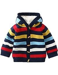 ARAUS Bebé Jacket Coat Cardigan Bebé Invierno Abrigo con Capucha Hoodie Sweaters para Niños ...