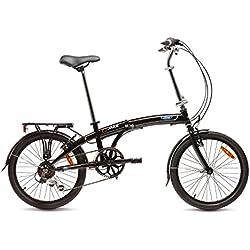 "Ford C-Max Bicicleta Plegable, Unisex Adulto, Negro, 20"""