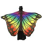 Disfraz de alas de ninfa con diseño de pavo real de Canela, 197x 125cm Z-Multicolor Talla única
