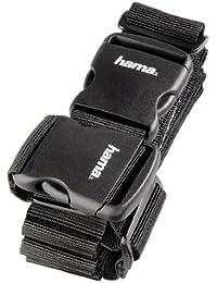 Hama 2-Wege Gepäckgurt doppeltes Band zum sicheren Verschließen der Koffers auf Reisen, 5x200 und 5x230 cm