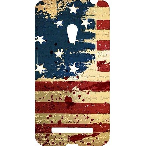 Casotec USA Flag Design Hard Back Case Cover for Asus Zenfone 5