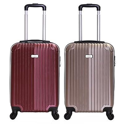 Slimbridge Borba 55 cm Hard Cabin Approved Spinner Suitcase - cheap UK light store.