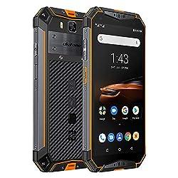 Ulefone Armor 3W (2019) Outdoor Handy, 10300 mAh Akku Helio P70 6GB + 64GB (256GB erweiterbar) IP69K Robustes Smartphone, 5,7 Zoll FHD+ 21MP + 8MP Kamera, Dual SIM Global LTE, Orange