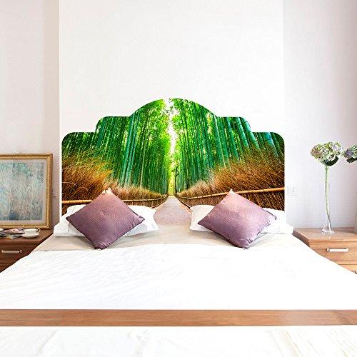 Bambus-schlafzimmer Kopfteil (YEARGER 3D Bambus Natürliche Dekoration DIY Wandaufkleber Schlafzimmer Dekor Kopfteil Möbel Bett Aufkleber Einfach Zu Bewerben (Full))