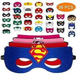 36 Pezzi Nuova Edizione Maschere di Supereroi, Maschera per Bambini, maschere da festa per supereroi ,Un'ottima scelta…