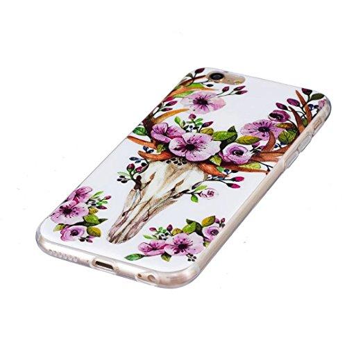 iPhone 6s Plus / 6 Plus Hülle, Vandot Schutzhülle für iPhone 6s Plus / 6 Plus Case Silikon Muster Malerei TPU Cover Leuchtend Luminous Noctilucent Abdeckung Handytasche Löwenzahn Schmetterling Blumen  Color 10