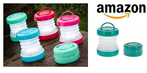 Faltbar Camping-Lampe, Mini Taschenlampe, Lampe tragbar und flexibel ideal für Outdooraktivitäten, Wandern, Garten, Camping, Jagd, Angeln