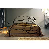 Amazon.it: letto ferro battuto matrimoniale - 160 x 190 cm / Camera da ...