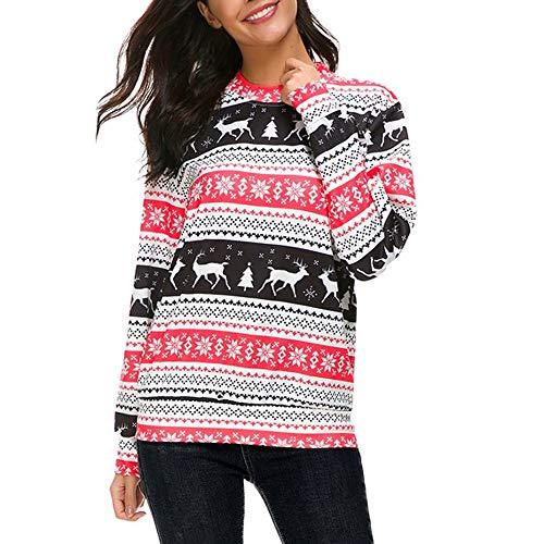 (GHEMD Ghemdilmn Weihnachten Bedruckte Hoodies Sweatshirt Ladies Tops Pullover Frauen Sweatshirt Mantel Coat Oberbekleidung Jacken Verdicken Outdoor Outwear Damen)