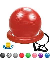 Glamexx24 Suave Pezi Swiss Pelota de Dick Anti Burst Asiento Pelota de Gimnasia Fitness Balón de Bomba, Pelota Carcasa, Obstrucción Solapas, Mini Pilates Yoga Ball