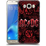 Official AC/DC ACDC Ornate Red Logo Hard Back Case for Samsung Galaxy J5 (2016)