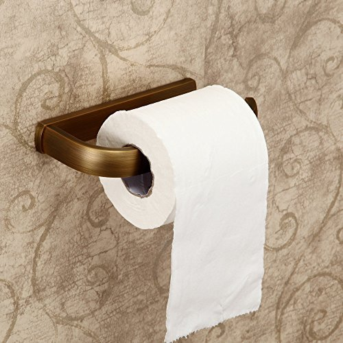 Hiendure®Cuarto de baño Accesorios de montaje en pared de latón higiénico Estante de papel sostenedor de papel