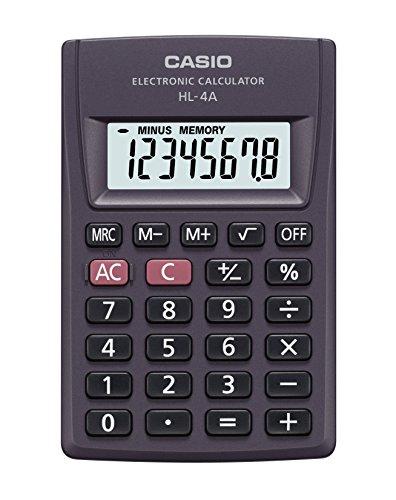 Casio HL-4A Bolsillo - Calculadora (Bolsillo, Calculadora básica, 8 dígitos)