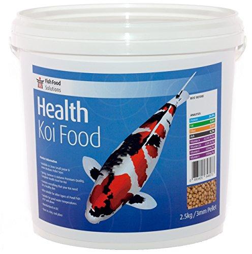 FFS Santé koï Nourriture. Petite Junior, Granulés de 3 mm. Convient pour tous les Bassin Poisson (2.5kg)