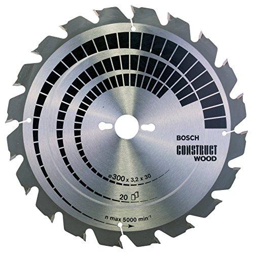 Bosch Zubehör 2608640690 Kreissägeblatt Construct Wood 300 x 30 x 3,2 mm, 20