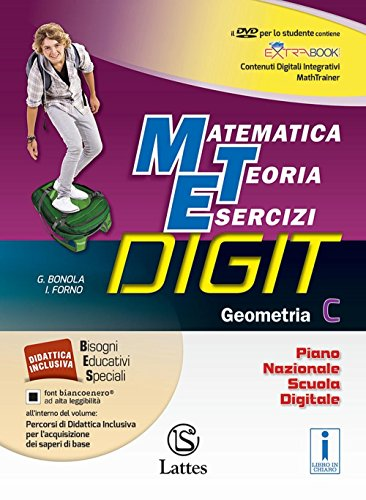 Matematica teoria esercizi digit. Geometria C. Per la Scuola media. Con DVD-ROM. Con e-book. Con espansione online: 3