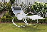 Design-Schaukelstuhl - Farbe schwarz-weiß