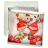 Cozywind Weihnachten Haarspange für Baby Mädchen Kinder Haarbögen Kleinkind Glitzer Haarklammer Haarschmuck Geschenk Set 8 Stücke