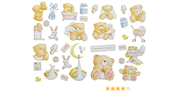 35 Piece Xl Set Wall Decal Sticker Teddy Bear Forever Friends Children S Wall Sticker Boys Girls Kids Baby Wall Sticker Window Sticker Teddy Bear Bear Spielzeug