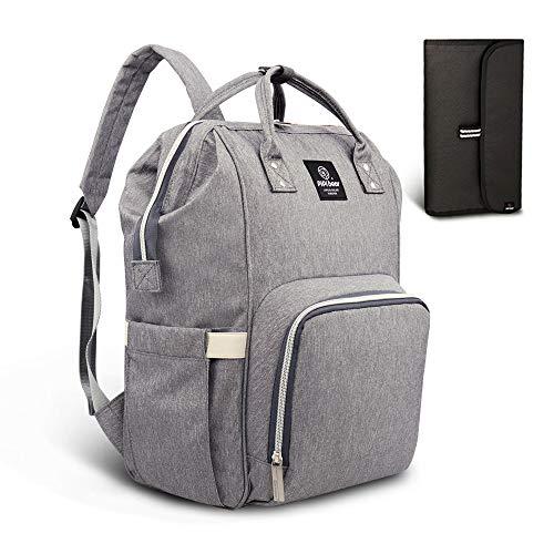 he Reise Rucksack,Isolierte Tasche, Wasserdicht Stoffe, Multifunktional, Passform für Kinderwage, Große Kapazität Modern Einzigartig Tragbar Handtasche Organizer (Leinen grau) ()